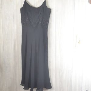 Ann Taylor Silk Dress w/ beading Sz 6